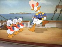 "Donald and his nephews in ""Sea Scouts"""