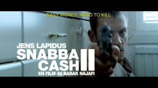 Author Jens Lapidus' prominent billing extends to Snabba Cash II's theatrical trailer...