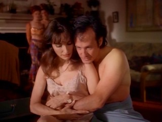 Ebbie (Susan Lucci) and Paul (Ron Lea) have their loverly Christmas morning interrupted by a work phone call.