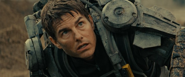 "Army PR Major William Cage (Tom Cruise) is dropped into a war he's extremely unprepared for in ""Edge of Tomorrow."""