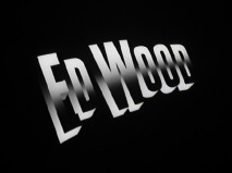 "The ""Ed Wood"" title logo appears at the end of its theatrical trailer."