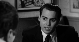 Ed Wood (Johnny Depp) pitches his directing services for a studio's sex-change film, disclosing his unique qualifications for the job.