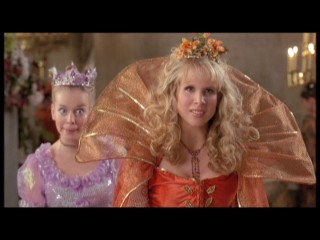 Ella's nasty stepsisters (Jennifer Higham and Lucy Punch) get their comeuppance in an alternate ending.