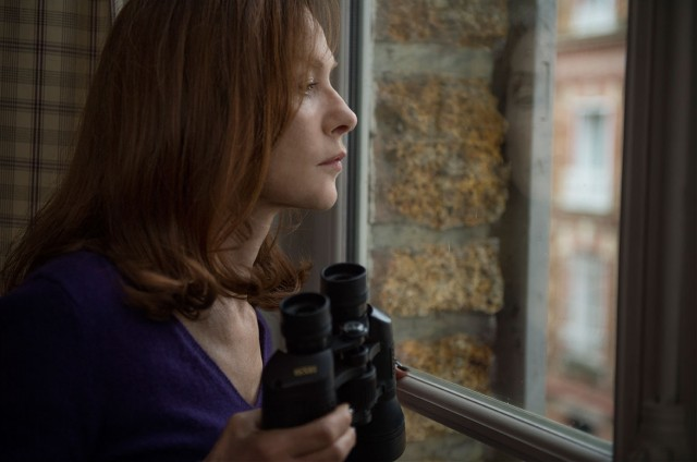 "In ""Elle"", Michèle Leblanc (Isabelle Huppert) tries to figure out who perform a violent sexual assault in a masked house invasion."