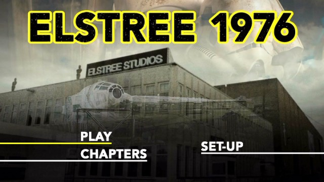 The Elstree 1976 DVD main menu is as basic as can be.