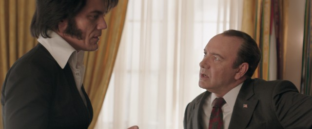 "Unsurprisingly, Elvis (Michael Shannon) and Nixon (Kevin Spacey) do eventually meet in ""Elvis & Nixon."""