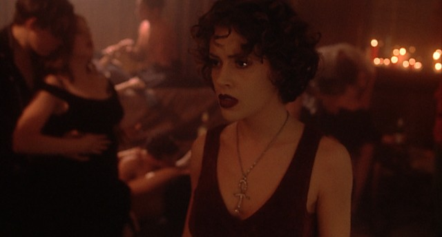 Charlotte (Alyssa Milano) finds herself in the middle of a vampiric orgy.