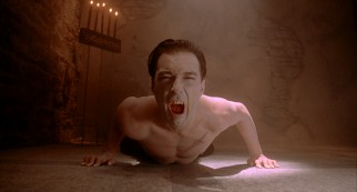 The vampire (Martin Kemp) gets real weird with it.