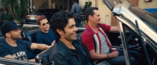 "Bros will be bros: the ""Entourage"" gang (Jerry Ferrara, Kevin Connolly, Adrian Grenier, and Kevin Dillon) makes it to the big screen with their camaraderie intact."