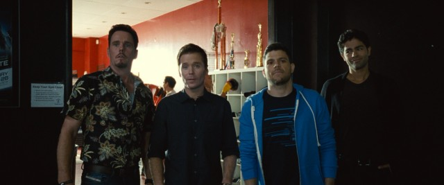 "Johnny Drama (Kevin Dillon), Eric Murphy (Kevin Connolly), Turtle (Jerry Ferrara), and Vinnie Chase (Adrian Grenier) get their send-off on the big screen in the ""Entourage"" movie."
