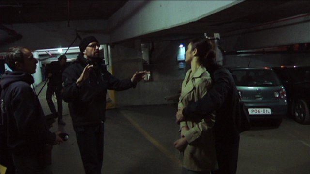 "Philipp Stölzl directs the famous parking garage scene in ""Erased: Behind the Scenes."""