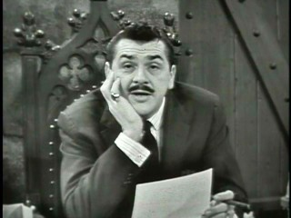 Ernie Kovacs is at ease as the host of his eponymous 1955-56 NBC daily morning show.