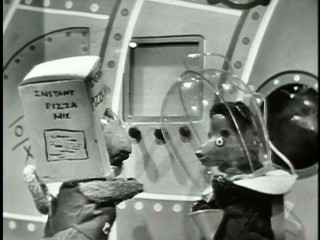A parody of children's puppet shows, Kapusta Kid in Outer Space tells the tale of an intergalactic lisp-addled bear.