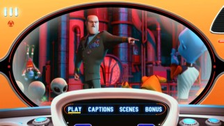 Bald villain General William T. Shanker appears in the DVD's version of the main menu, which could use some Ricky Gervais quips.