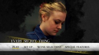 Dakota Fanning appears on the Every Secret Thing DVD's main menu.