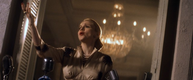 """Don't cry for me, Argentina,"" pleads Madonna as Eva Per�n in the 1996 musical film ""Evita."""