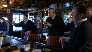 "The four brothers of 9/11 victim Daniel McGinley offer a toast to him ""Ten Years Later"" in New Jersey's P.J. Finnegan's."