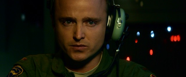 Working out of a bunker in Las Vegas, drone pilot Chris Watts (Aaron Paul) has real reservations about dropping a missile.