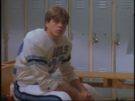 Matthew Lawrence enjoys a locker sit.