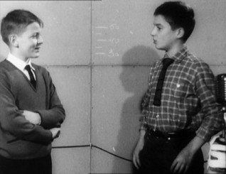 Patrick Auffay and Jean-Pierre Léaud's seemingly casual discussion of their schools is preserved as an audition.