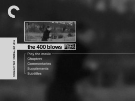 Two views of Antoine's escape run on The 400 Blows' main menu.