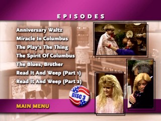 Episode menus offer disc-specific images.