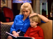 An overworked Elyse (Meredith Baxter Birney) cherishes a rare moment of relaxation with Andy (Brian Bonsall).