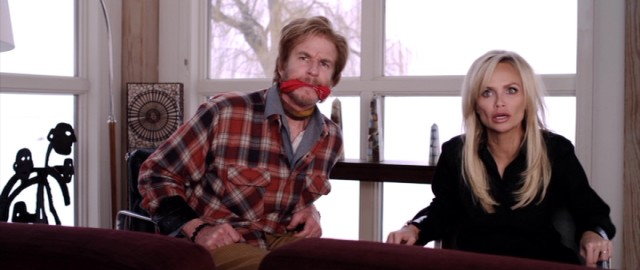 "Two preoccupied parents (Matthew Modine and Kristin Chenoweth) are tied up and taught a lesson by their fed-up teenaged daughter in ""Family Weekend."""