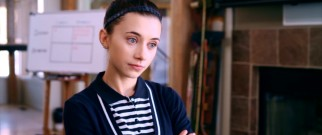 Emily (Olesya Rulin) quizzes her parents on their behavior.