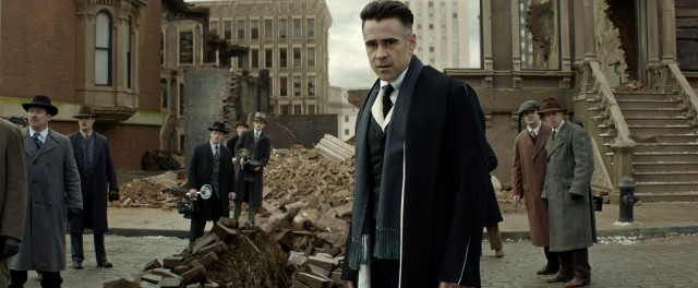 "Two-toned MACUSA director of security Percival Graves (Colin Farrell), who is not what he appears to be, pursues Credence in ""Fantastic Beasts and Where to Find Them."""