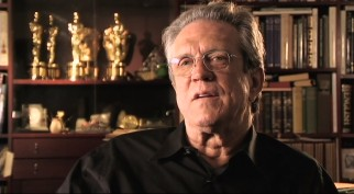 "In front of a shelf full of Oscars, Richard Edlund sings the praises of Fantastic Voyage's visual effects in ""Lava Lamps and Celluloid."""