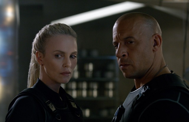"In ""The Fate of the Furious"", Dom Toretto (Vin Diesel) goes rogue and teams up with the cyberterrorist Cipher (Charlize Theron)."