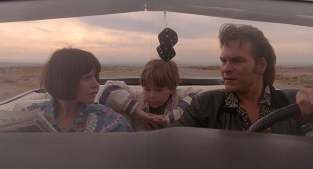 "In ""Father Hood"", an irresponsible Dad (Patrick Swayze) kidnaps his two children (Sabrina Lloyd and Brian Bonsall) from the foster care system."