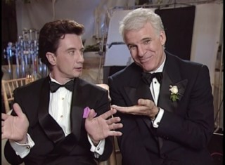Martin Short and Steve Martin are a well-oiled machine when it comes to sending playful barbs in each other's direction as this 1991 interview reveals.