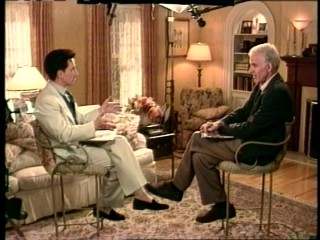 "Martin Short and Steve Martin still enjoy goofily chatting with one another in 1995's ""Just Between Friends."""
