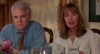 Though equally shocked, George (Steve Martin) and Nina Banks (Diane Keaton) have different reactions to the news of their daughter's engagement.