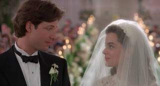 "As the title suggests, ""Father of the Bride"" eventually comes to the wedding day of Bryan MacKenzie (George Newbern) and Annie Banks (Kimberly Williams)."