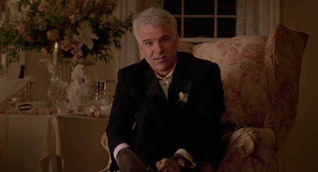 "George Banks (Steve Martin) addresses the viewer directly in the opening of both of his ""Father of the Bride"" movies."