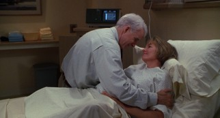 The sequel's hectic final act sees George (Steve Martin) dividing his time between the two very pregnant women in his life, including his wife Nina (Diane Keaton).