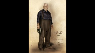 A costume design envisions how Jim Bono (Stephen McKinley Henderson) would dress in the film.