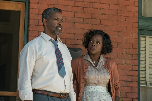 "With far more screentime than the competition, Viola Davis seems likely to run away with the Best Supporting Actress Oscar for her fantastic work across from Denzel Washington as Rose Maxson in ""Fences."""