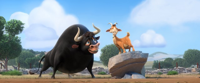 "In Blue Sky Studios' ""Ferdinand"", Ferdinand the pacifist bull returns to Casa Del Toro and meets calming goat Lupe, who dreams of training him to be a champion fighter."