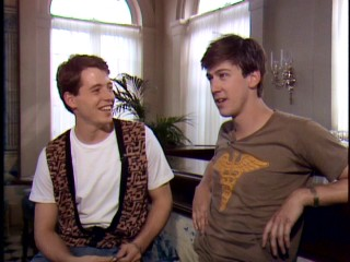"Matthew Broderick interviews Alan Ruck in ""Vintage Ferris Bueller: The Lost Tapes."""