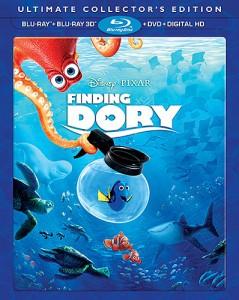 Finding Dory: Ultimate Collector's Edition Blu-ray 3D + Blu-ray + DVD + Digital HD combo pack cover art