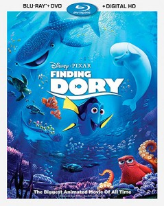 Finding Dory: Blu-ray + DVD + Digital HD combo pack cover art