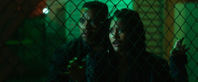 Staten Island siblings Isaiah (Joivan Wade) and Nya (Lex Scott Davis) get a first-hand look at the social experiment that is The First Purge.