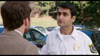 Kumail Nunjiani's security guard features prominently in the two longest extended scenes.