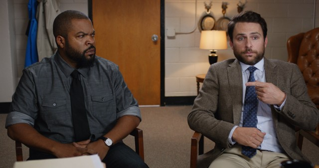 "Andy Campbell (Charlie Day) gets his fellow teacher Ron Strickland (Ice Cube) fired, prompting a challenge to a ""Fist Fight."""