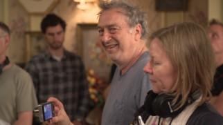 "Director Stephen Frears likes what he sees on the set of ""Florence Foster Jenkins."""