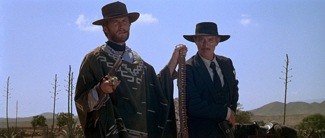 """For a Few Dollars More"" stars Clint Eastwood and Lee Van Cleef as sharp-shooting bounty killers who join forces."